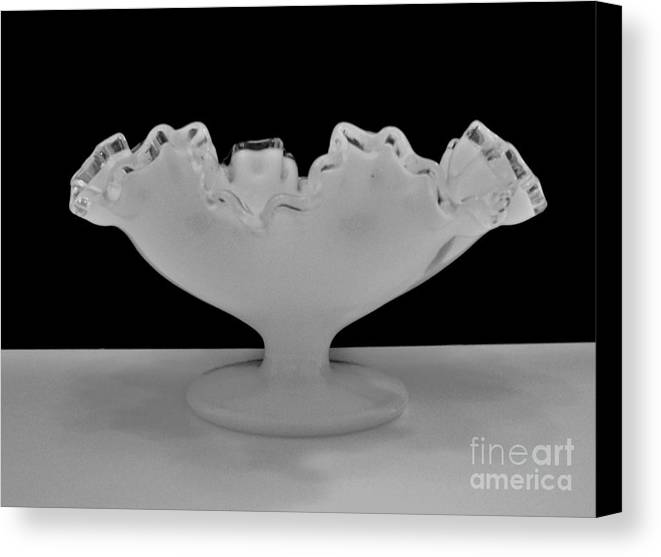 Photos Canvas Print featuring the photograph Silvercrest Fenton Bowl by Marsha Heiken