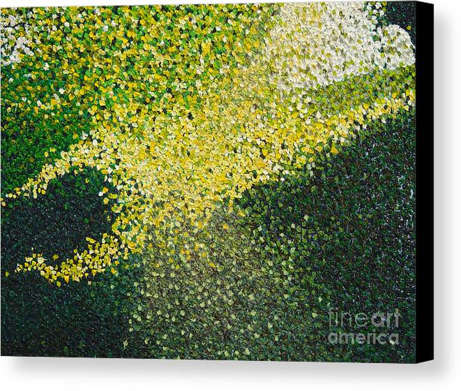 Abstract Canvas Print featuring the painting Soft Green Light by Dean Triolo