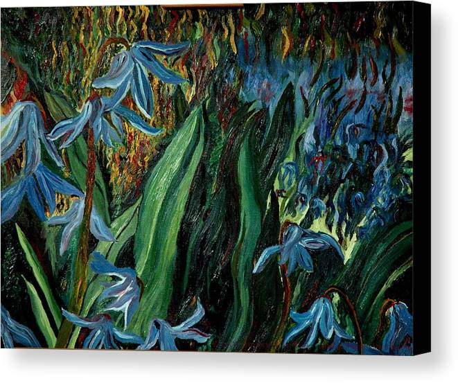 Jungle Canvas Print featuring the painting Spring Flower by Gregory Allen Page