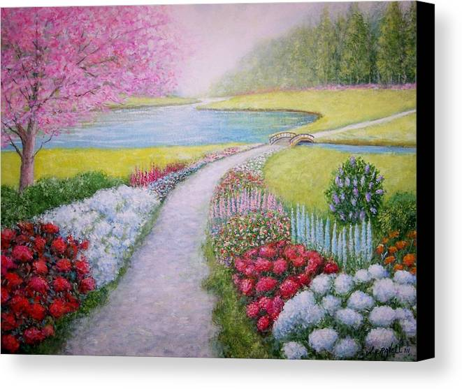 Landscape Canvas Print featuring the painting Spring by William H RaVell III