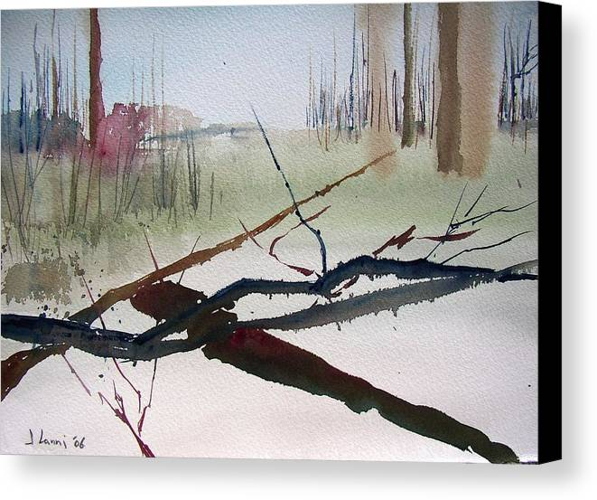 Abstract Canvas Print featuring the painting Sticks And Stones by Joe Lanni
