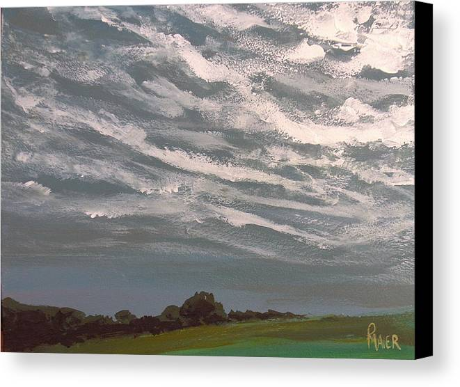 Storm Canvas Print featuring the painting Storm Front by Pete Maier