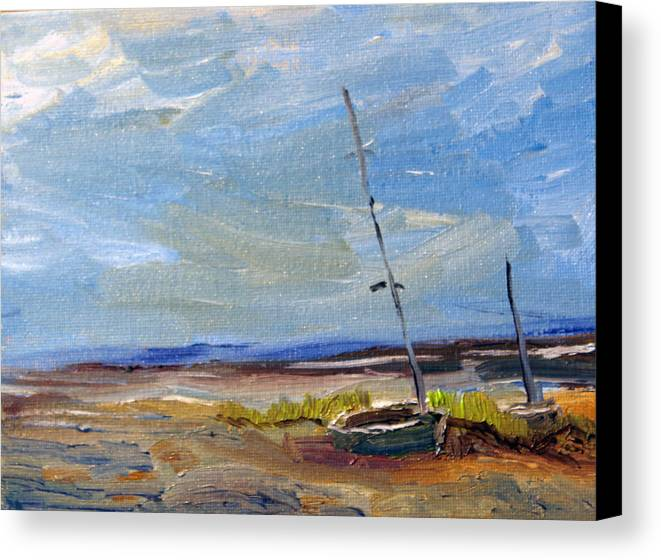 Nature Canvas Print featuring the painting Stranded by Michael Helfen