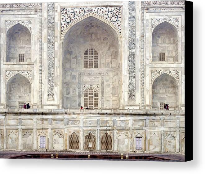 Taj Canvas Print featuring the photograph Taj Mahal II by Nina Papiorek