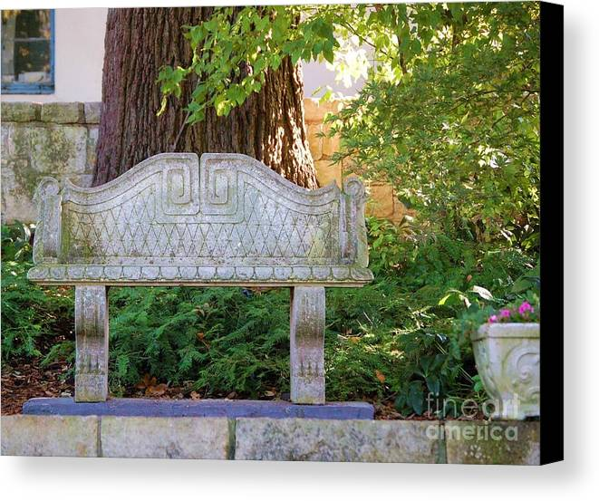 Bench Canvas Print featuring the photograph Take A Break by Debbi Granruth