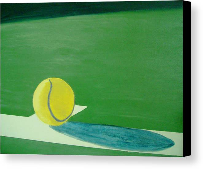 Tennis Canvas Print featuring the painting Tennis Reflections by Ken Pursley