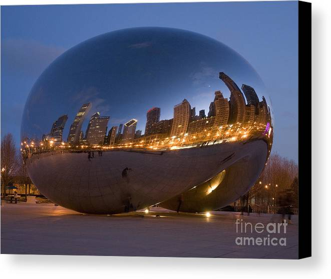 Reflection Canvas Print featuring the photograph The Bean - Millenium Park - Chicago by Jim Wright