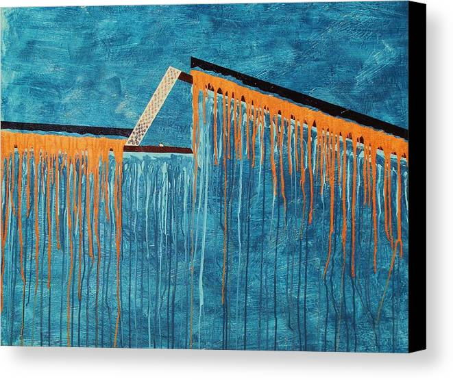 Abstract Canvas Print featuring the painting The Bridge Of Hope by Ofelia Uz
