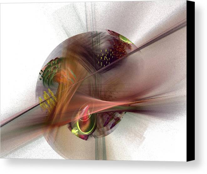 Abstract Canvas Print featuring the digital art The Circle Sea by NirvanaBlues