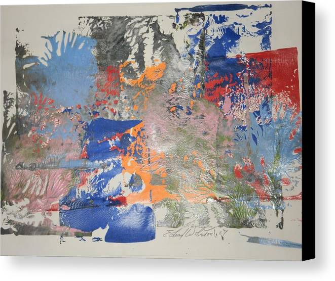 Abstract Canvas Print featuring the painting The Dirt Hauler by Edward Wolverton