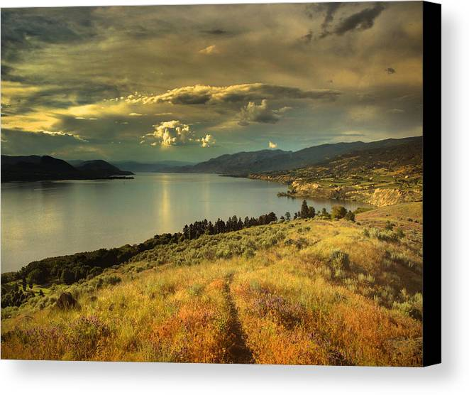 Lake Canvas Print featuring the photograph The Evening Calm by Tara Turner