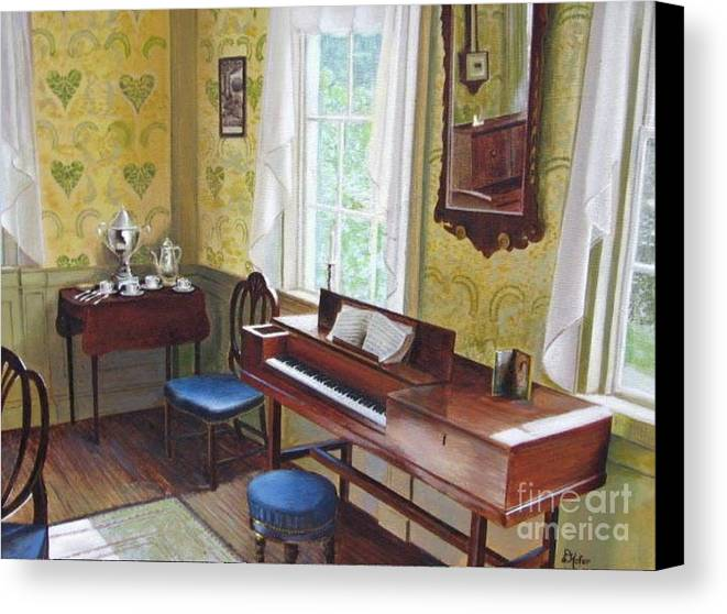 Paintings Canvas Print featuring the painting The Ladies Parlor by Donald Hofer