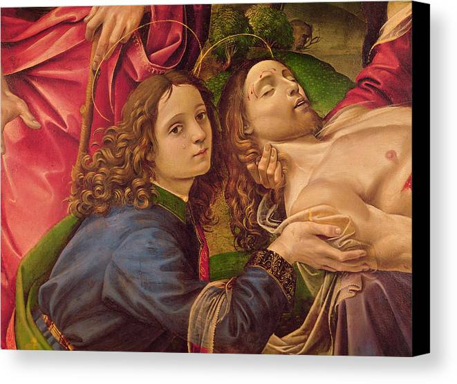 The Canvas Print featuring the painting The Lamentation Of Christ by Capponi