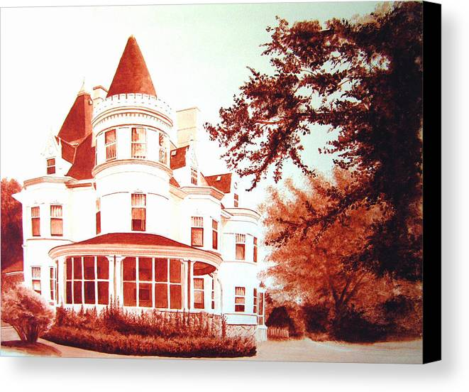 House Canvas Print featuring the painting The Patton House by Scott Robinson