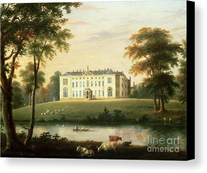 Thorp Canvas Print featuring the painting Thorp Perrow Near Snape In Yorkshire by English School