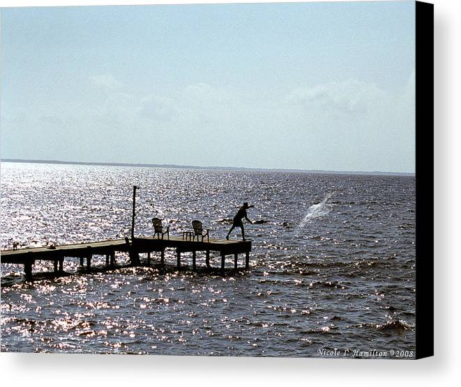 Fishing Canvas Print featuring the photograph Throwing The Net by Nicole I Hamilton