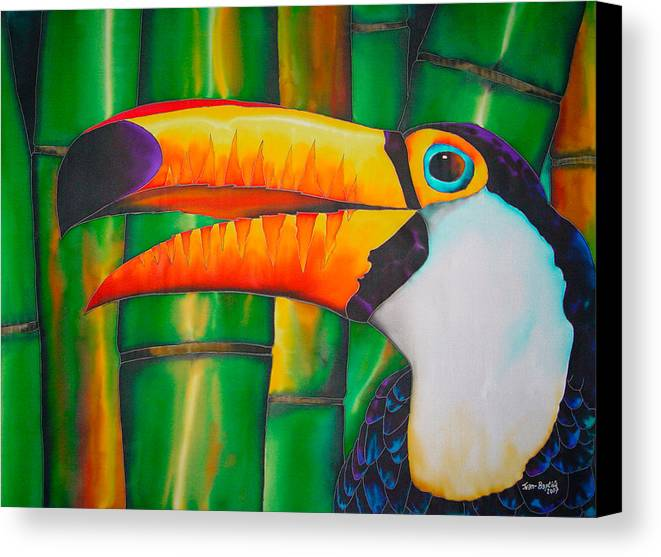 Toucan Painting Canvas Print featuring the painting Toco Toucan by Daniel Jean-Baptiste
