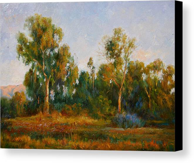 Landscape Canvas Print featuring the painting Ulistac Natural Park C by Kelvin Lei