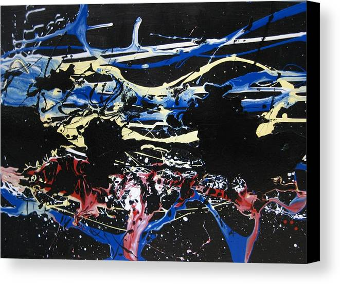Abstract Canvas Print featuring the painting Untitled 3 by Paul Freidin