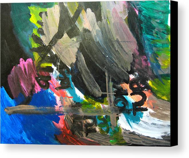 Abstract Canvas Print featuring the mixed media Untitled by Andrew Hagopian