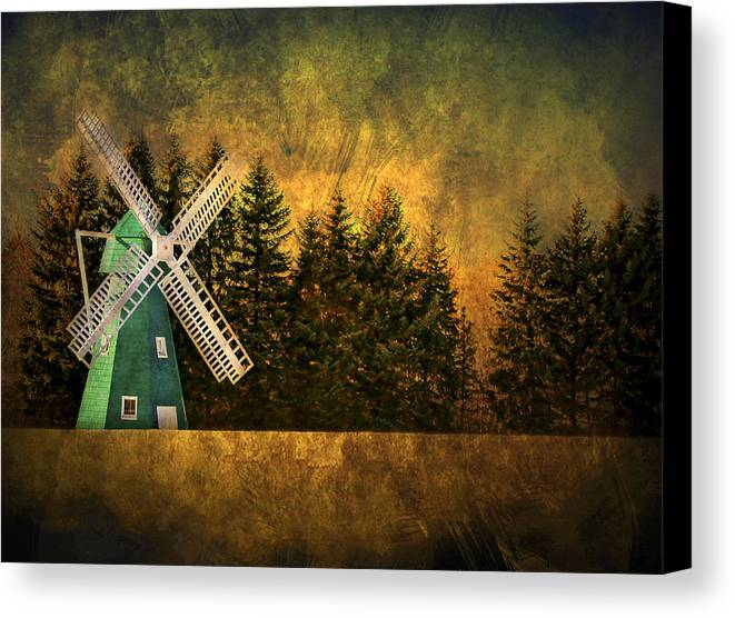 Brimfield Canvas Print featuring the photograph Windmill On My Mind by Evelina Kremsdorf