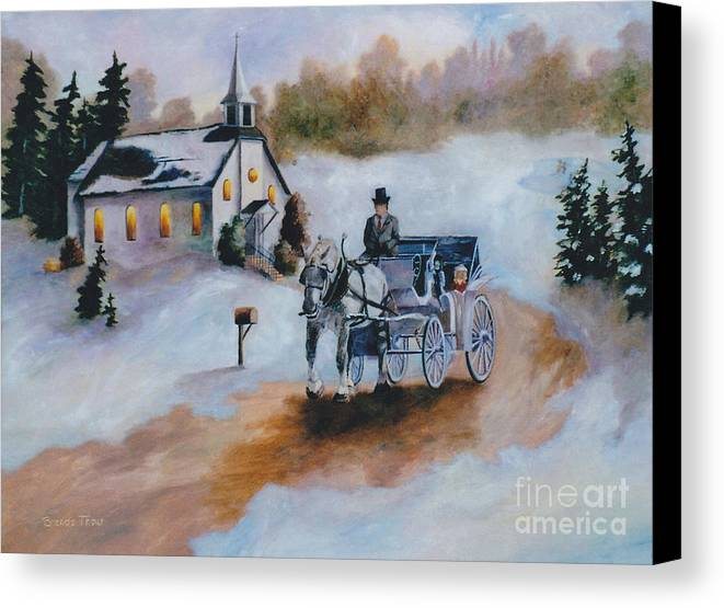 Winter Canvas Print featuring the painting Winters Dream by Brenda Thour