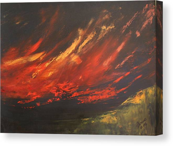Clouds Canvas Print featuring the painting Camberwell Skies by Jan Lowe