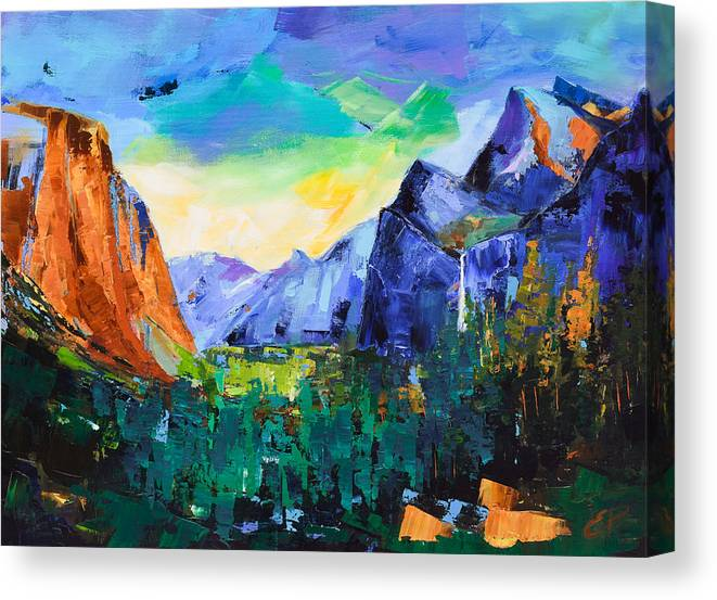 Yosemite Valley - Tunnel View by Elise Palmigiani