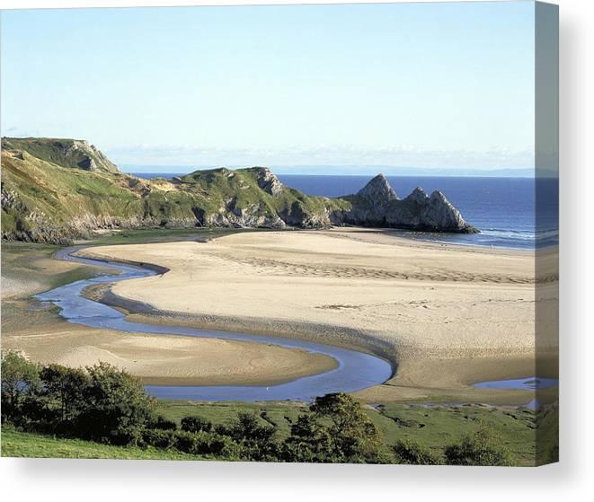 3 Cliffs Bay, Gower, West Glamorgan, Wales  Canvas Print