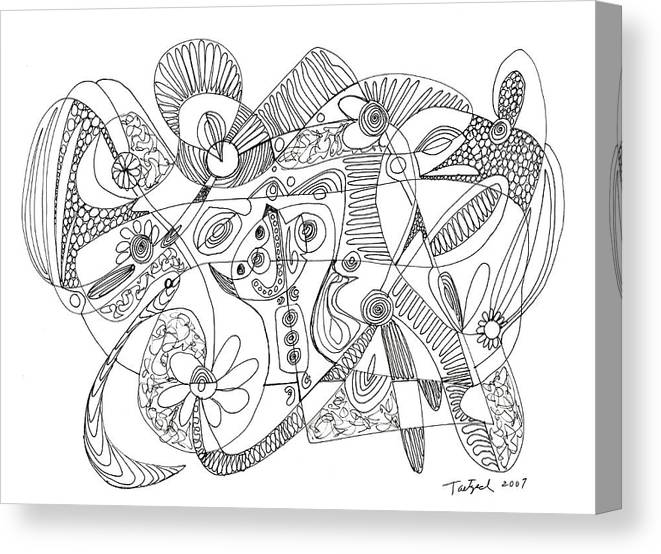 Abstract Pen Drawing Thirty Eight Canvas Print