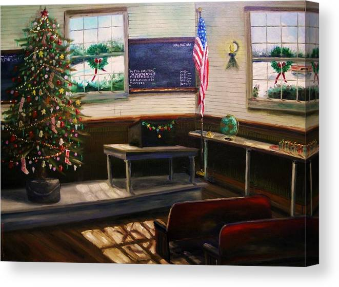 Oil Canvas Print featuring the painting Days Til Christmas by John Williams