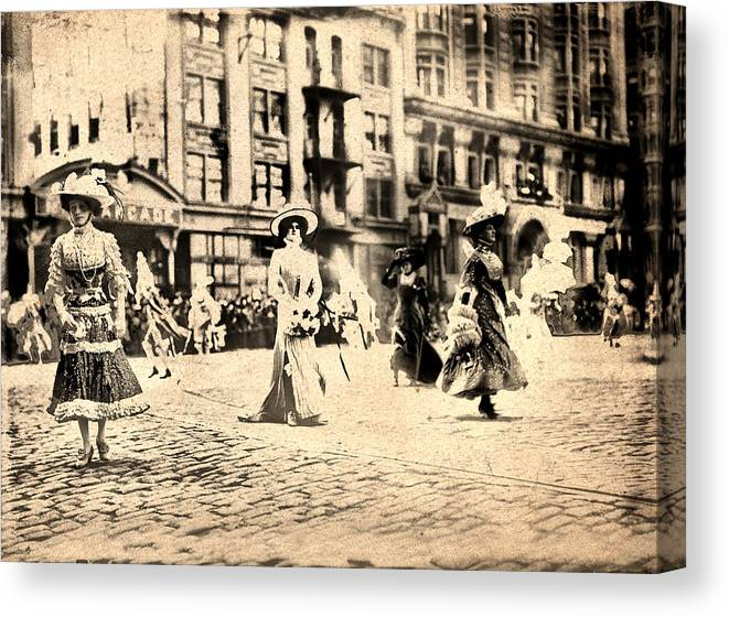 Directoire Canvas Print featuring the photograph Directoire Gown - Philadelphia Mummers 1909 by Bill Cannon