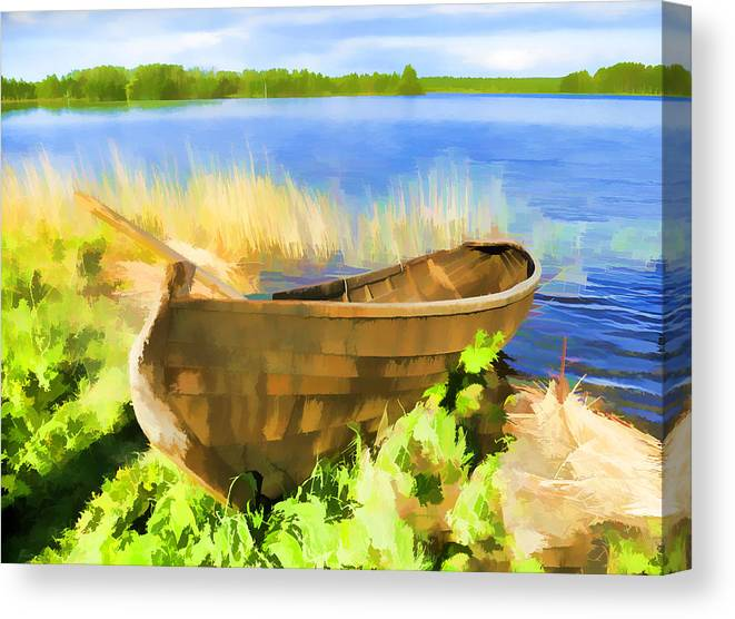 Boat Canvas Print featuring the photograph Fishing Boat Kizhi Island by Glen Glancy
