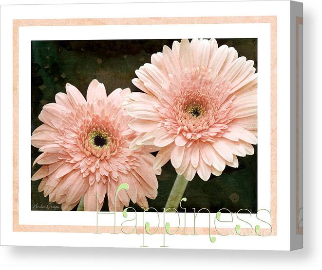 Gerber Canvas Print featuring the photograph Gerber Daisy Happiness 5 by Andee Design