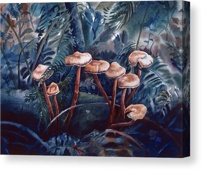Landscape Canvas Print featuring the painting Keeping Together by Tina Buechner
