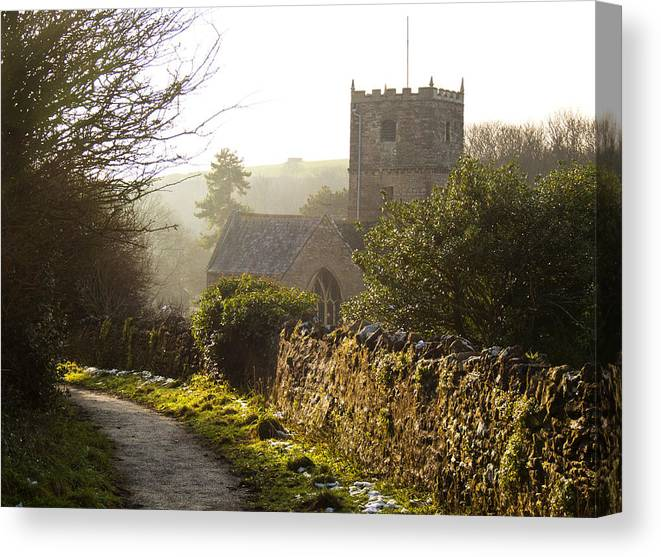 St Andrew's Church Canvas Print featuring the photograph St Andrew's Church Clevedon by Rachel Down