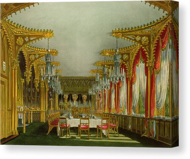 The Gothic Dining Room At Carlton House Canvas Print
