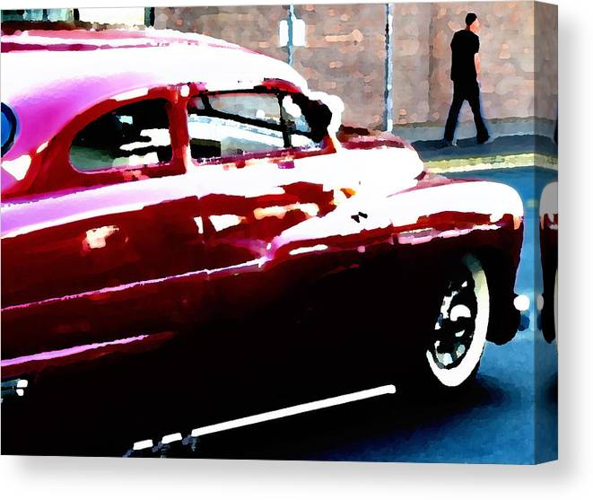 Canvas Print featuring the digital art Drive By by Elizabeth Alamillo