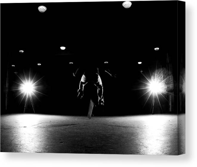 Skate Canvas Print featuring the photograph Game Of Skate by Cale Best