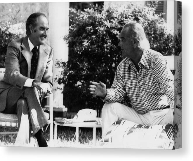 1970s Candids Canvas Print featuring the photograph George Mcgovern, Presidential by Everett