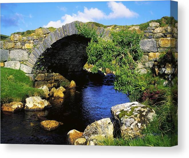 Bridge Canvas Print featuring the photograph River Owenwee, Poisoned Glen, Co by The Irish Image Collection
