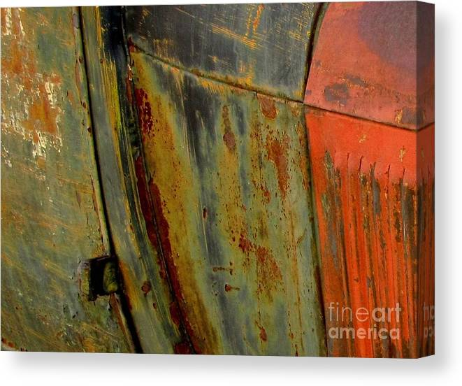 Abstract Photograph Canvas Print featuring the photograph Rusty Abstract by Marilyn Smith