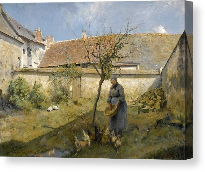 Carl Larsson Canvas Print featuring the painting A La Campagne by Carl Larsson