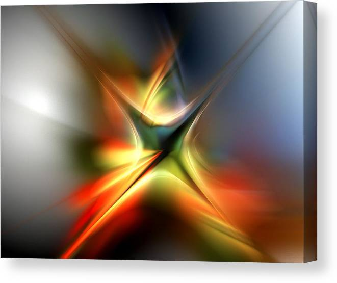 Digital Painting Canvas Print featuring the digital art Abstract 060310a by David Lane