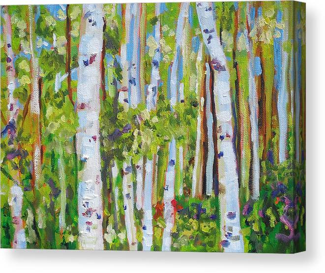 Landscape Canvas Print featuring the painting Alignment by Molly Wright