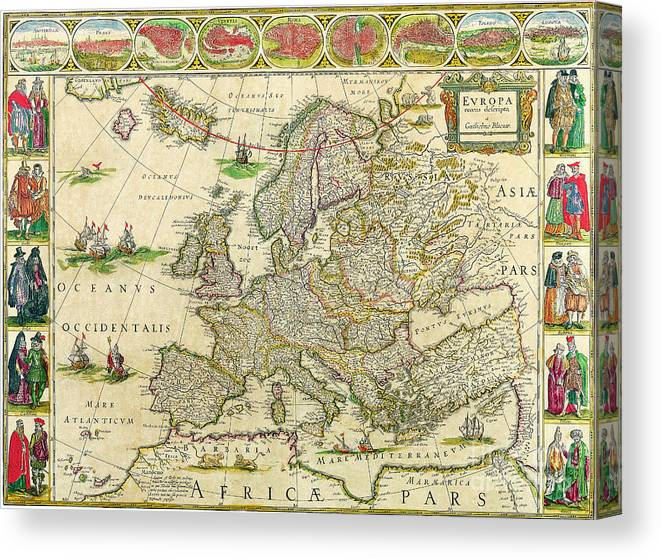 Antique Maps Of The World Map Of Europe Willem Blaeu C 1650 Canvas on earth map canvas, old world map canvas, map wall art, ikea world map canvas, united states map canvas,
