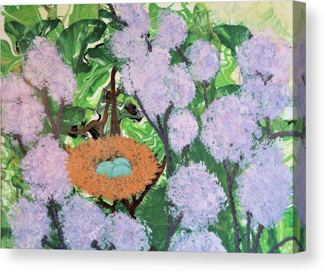 Botanical Canvas Print featuring the painting Arboreal Abundance by Diana Robbins