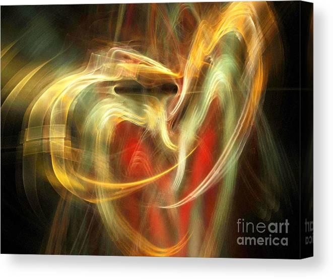 Fractal Canvas Print featuring the digital art Awakening Heart by Helene Kippert