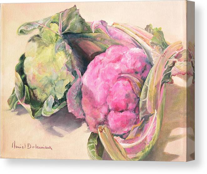 Flower Canvas Print featuring the painting Choux by Muriel Dolemieux