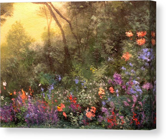 Connie Tom Canvas Print featuring the painting Corner Of The Garden by Connie Tom